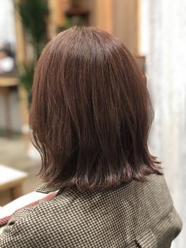 ☆ピンクブラウンカラー☆で春スタイルを先取り^_^_20200219_1