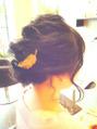 クルリンパアレンジhair(黒髪)