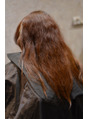 ロングヘアの縮毛矯正!