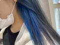 インナーカラーブルー☆*°