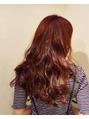 真夏に映える!赤みの艶髪