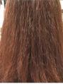 髪の毛がチリチリ