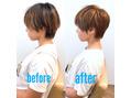 【ショート・ボブ】小顔効果、首が細く見える髪型