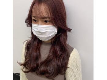 【暖色系×韓国風低めレイヤーカット】で大人女子に_20210226_1