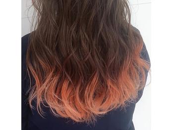 【宮下ケイスケ】アプリコットオレンジの毛先カラー_20200503_1