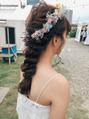 おしゃれな結婚式ヘアセット~お客様PHOTO~