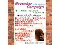 アートヘア11月のキャンペーン!