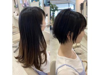 【☆バッサリカット☆】下野市 自治医大 シェイプス (Shape's hair design)