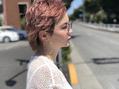 pinkの髪=イルミナカラー