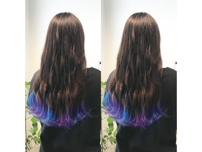 青と紫の裾カラー☆_20191003_1