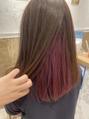 インナーカラー × ピンクバイオレット