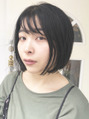 暗髪シースルーバングボブ☆