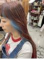 パーマネントガレージ(Parmanent Garage)デザインカラー☆コーラル×ブルー