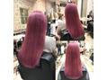 pink ash×wブリーチカラー