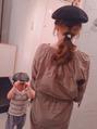 ベレー帽に似合うヘアアレンジ♪