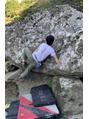 ファウンド(found)こせ渓谷で外岩ボルダリング