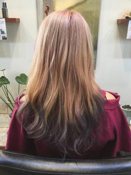 淡いピンクと濃いパープルブルー♪_20180829_1