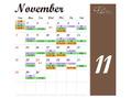 11月の定休日&シフトのお知らせ