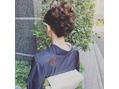 ヘアセット&大島紬のお着物