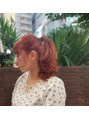 oguma hair /アプリコットオレンジヘアー