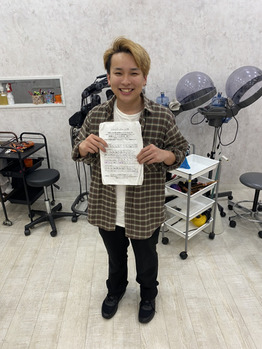 シャンプー合格できました!坂入Haruki_20200503_1
