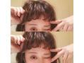 前髪パーマ