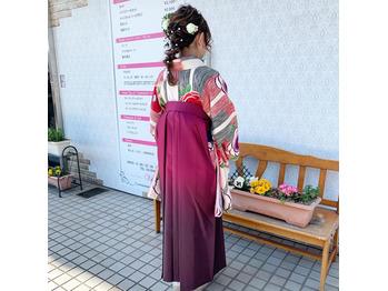 袴&編みおろしスタイル