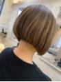 ヘアアンドメイク アリス(hair&make ALICE produce by COLT)ハイライトベースの前下がりボブ