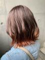 夏にぴったりなオレンジ裾カラー☆