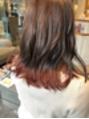 裾カラー! レッドブラウン