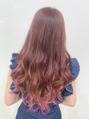 エクステで毛先ピンクの可愛いカラー 【AYANO】