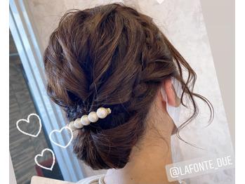 結婚式のお呼ばれヘアセット。川村Asami_20201104_1