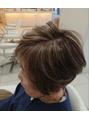 グレーヘアーのダブルカラー
