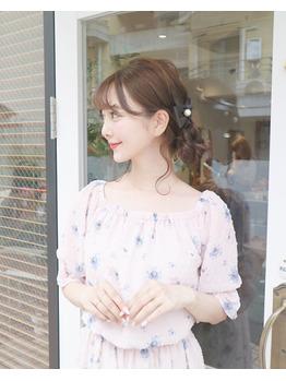 ヘアアレンジ(ヘアセット)☆中田絵里奈ちゃん_20180806_2