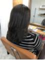 ロゼ茨木 ハイライトが入ってる髪に縮毛矯正