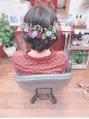 結婚式のお呼ばれや特別な日のヘアセット☆