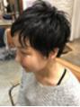 ~黒髪ショートパーマ~