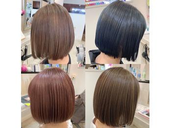 【ハイトーンボブも可愛い☆】下野市 自治医大 シェイプス(Shapes hair design)