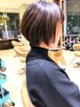 ロングからショートヘアに☆大島知子