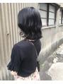 切りっぱなしボブ × 暗髪ブルーブラック