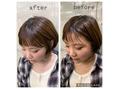 前髪 カット 印象の違い