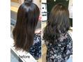アミィヘアー(Ami Hair)髪色を暗くしたい季節の、暗髪ブルーグレージュ♪