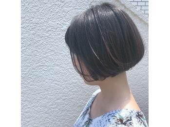 #らく髪 ナチュラルショートボブ .アツキ_20180805_1