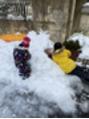 家の前の雪遊び(冬のおもひで、、、)