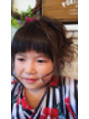 子どもの夏祭りの髪型