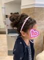 子供ちゃんのヘアセットも受け付けてます★