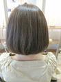 ヘアーブランド リンク 三宮店(HAIR BRAND Link)シナモンベージュ×アゴラインボブ