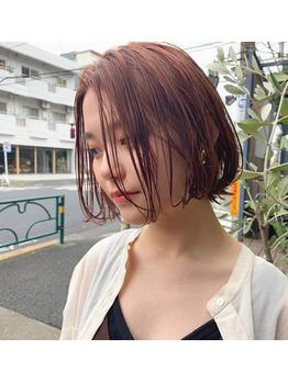 ミニボブ/オレンジベージュ/透明感カラー_20200229_1