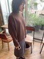 秋スタイルコーデ。【透明感カットカラー9800清水】