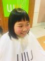 前髪カット(^^)